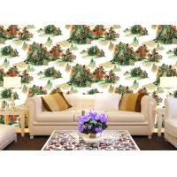 Buy cheap Chinese Style contemporary wall coverings Mountains And Rivers For Sofa/TV Background from wholesalers