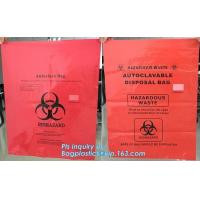 China biohazard red color disposable plastic medical bags, Autoclave Biohazard Bags Medical Disposable Plastic Bags, bagease wholesale