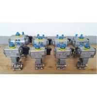 Quality Fluitech Flange Double Acting Pneumatic Valve Actuator Set With Ball Valve for sale