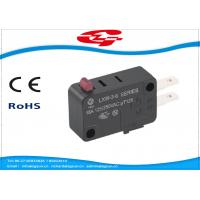 China SPDT 3 Terminals Electrical Rocker Switches , Mini Push Button Switch LXW-3 Series wholesale