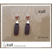 China Sterling silver gemstone earring fashion jewelry with agate W-AS1129 wholesale