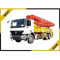 China Diesel Powered Concrete Boom Pump Truck Electro - Hydraulic Buffer With CE ISO Cetification wholesale