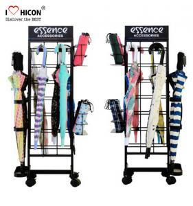 Buy cheap Get Notice Floor POP Displays Umbrella Merchandising Stand Metal Black from wholesalers
