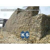 China Galvanized Gabion Box Retaining Walls / Gabion Stone Basket Fence wholesale