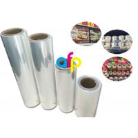 China Yokurt Bundle Packing Heat Shrink Plastic Film , Soft Poly Shrink Film wholesale