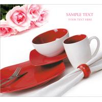 China hotsale 16pcs  square color glazed  dinner set in stock wholesale