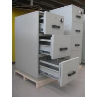 China Grey Steel 4 Drawers Fire Resistant Filing Cabinets For Valuable Records / Documents wholesale
