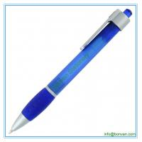 China plastic writing pen,click printed writing ball pen for sale