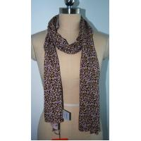 Buy cheap Silk Cashmere Scarf , Ladies Knitted Long Leopard Print Scarf Anti Shrink Soft Hand Feeling product