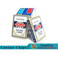 China Customized 150g / Pcs Casino Playing Cards With Anti - Fade Clear Printing wholesale