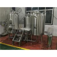 China Customized 500 Litre Beer Brewing Equipment With Three Vessles Brewhouse wholesale