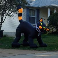 China Black Inflatable Cat, Halloween Event Inflatable Cat Decoration,Inflatable Cat Costume wholesale