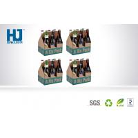 China Six Bottle Cardboard Beer Cardboard Bbeverage Pop Up Display Stand  With Corrugated Paper wholesale