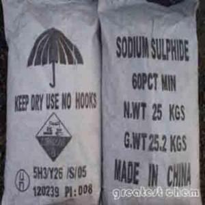 China Sodium Sulfide Red And Yellow Flake 60% wholesale