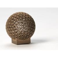 Buy cheap Aluminum DMLS 3D printing for Sphere Shape , Golden electroplating product