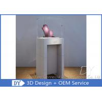 China Simple Fashion Pedestal Glass Museum Display Case With Lock / Logo wholesale