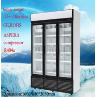 China Stainless Steel Upright Commercial Display Freezer -25°C With 3 Doors wholesale