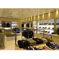 China Veneer Stainless Steel Clothing Display Case Contemporary Luxury Retail Design wholesale