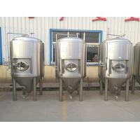 China 5000l Beer Fermentation Tanks Side Manway Bunging Valve Glycol Jacket wholesale