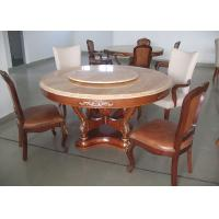 China Round Marble Luxury Dining Room Furniture Walnut Dining Table And Chairs wholesale