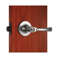 China Polished Security Tubular Lock Set Satin Nickel Lever Handle wholesale