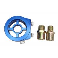 China Aluminum Racing Car Oil Pressure Gauge , Blue Oil Filter Sandwich Adapter wholesale