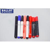 China Printed Colored Indelible Ink Pens Plastic With Fibre Tip Fast Dry wholesale