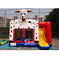 China Outdoor N indoor spotted dog inflatable bounce house with slide for family yard parties wholesale