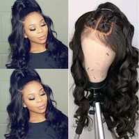 China 100 percent human hair lace front wigs front lace human hair wigs wholesale
