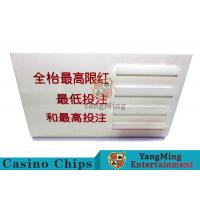 China Baccarat Dedicated Casino Game Accessories Poker Game Table Bet Limit Sign wholesale