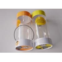 Small Clear Plastic Presentation Box , Personalised Clear Plastic Cups With Lids String Handle Tube Shape