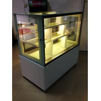 China Sliding Double Doors Cake Display Cabinets Freezer 2 Meters With Marble Tabletop wholesale