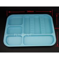 Autoclavable Dental Divided Tray Blue