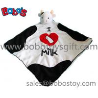 China 15Super Soft Plush Cow head style Doudou Stuffed Animal Baby Comforter Blanket on sale