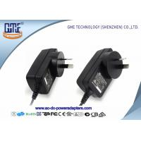 China 1.5m DC Cable Wall Mount Power Adapter 12V RCM Certificated With Black Color wholesale