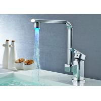 China ROVATE Pull Down Chrome LED Kitchen Basin Faucet Swivel Spout Wall Mounted on sale