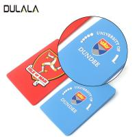 China OEM Waterproof Custom 2D Name Logo Soft PVC Rubber Travel Luggage Tags with Plastic Buckle wholesale