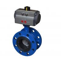 China Flange Connection Ball Valve Pneumatic Actuator Aluminium Alloy Material CE Approved wholesale