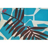 Swinsuit Polyester Spandex Fabric For Underwear , Printed 85 Polyester 15 Spandex Fabric
