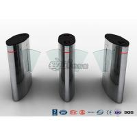 China Waist Height Access Control Turnstile Barcode Flap Barrier for Museum wholesale