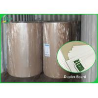 China C1S Duplex Board Carton White Surface Brown Color Back 250gsm 300gsm Rolls wholesale