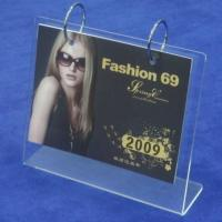 China Transparent Acrylic Calendar Holder Frames A5 L Type For Home wholesale