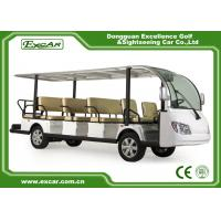 China EXCAR White 14 Seater Electric Sightseeing Cart  electric Tour Bus on sale