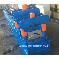 China Roof Ridge Cap Cold Roll Forming Machine PLC Control with Hydraulic Cutting wholesale