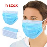 China Blue White Disposable Earloop Face Mask Dust Proof CE FDA Certification wholesale