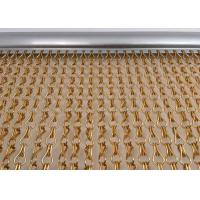 China Fine Aluminum Fly Screen Chain Curtain Size Customized For Door / Window wholesale