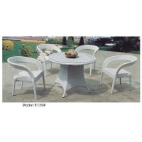 Quality 5pcs fashional white wicker dining set -8139 for sale