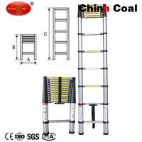 China 3.8M extension height 13 steps aluminum foldable telescopic ladder YM212B wholesale