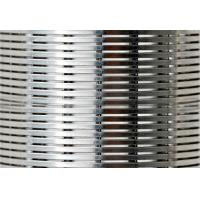 China 0.1-1.0mm Slot Wedge Wire Screen Panels For Food & Beverage Screens wholesale