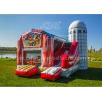 Inflatable Pig Farmyard Toddler Bounce House With Animals Models , Repair Kits